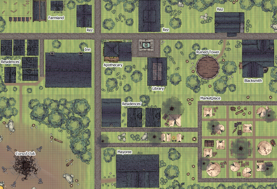 Meriadoc's Roll20 Town of Val-Tortis