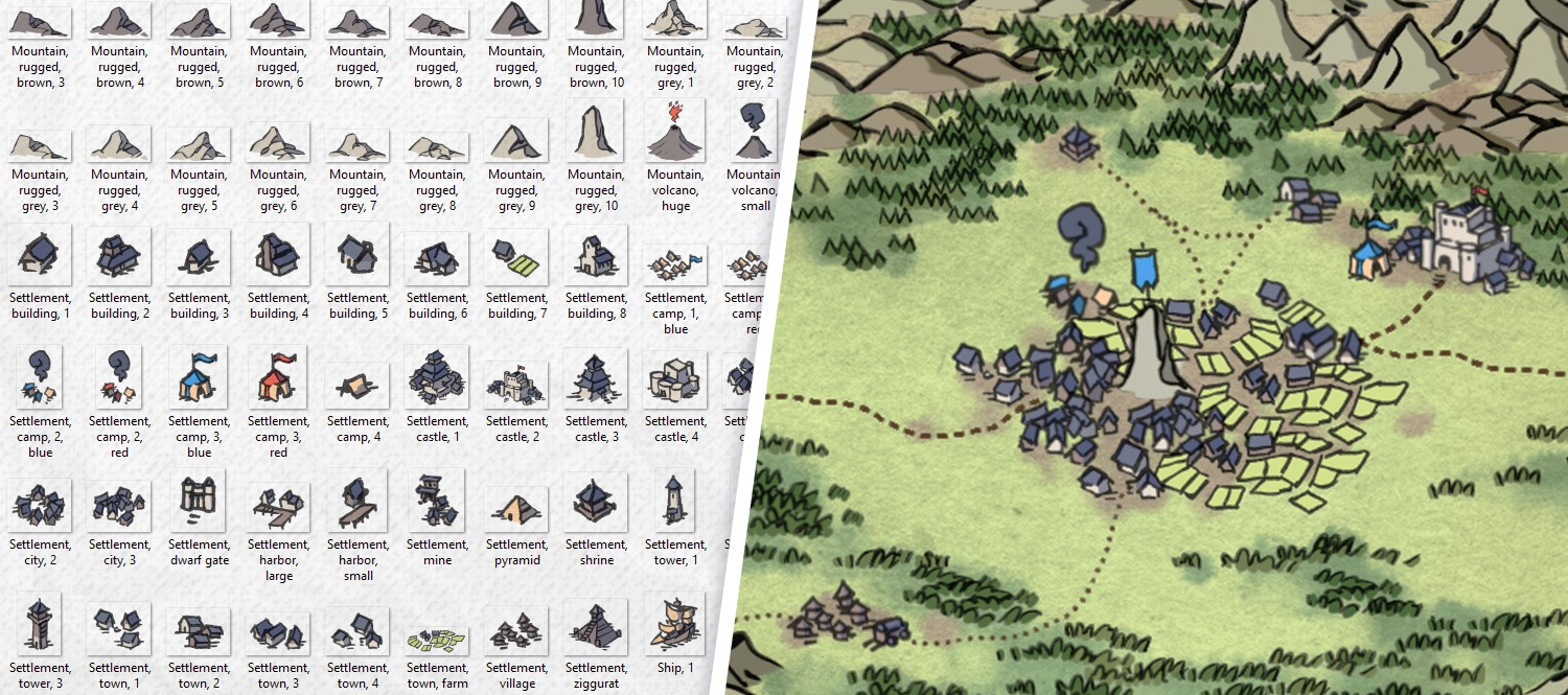 Wonderdraft Map Icons, banner