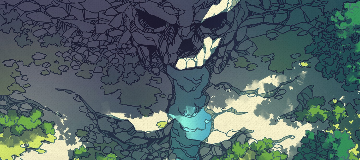 Cursed Cave battle map (tropical) banner