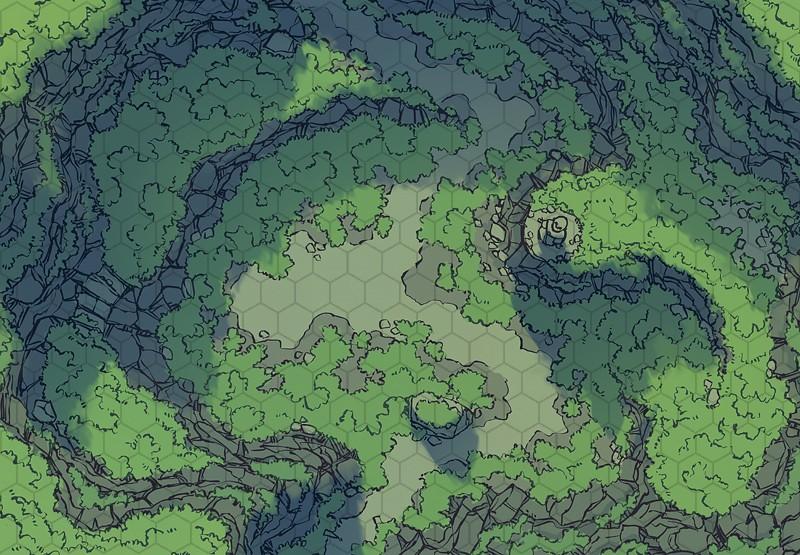 World Map Hex Grid