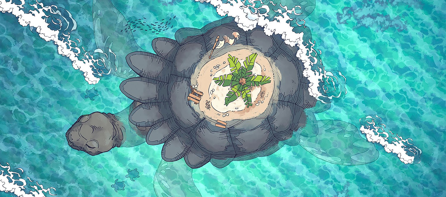 Colossal Turtle RPG Battle Map & Assets - Featured Image