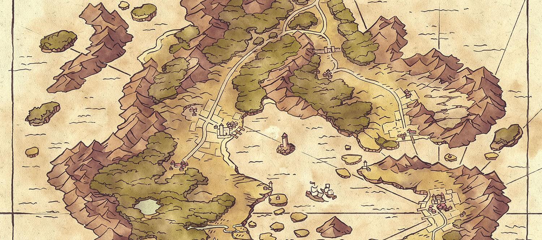 Arvyre Fantasy Map - Banner